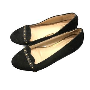 Mossimo women's Black Studded Flat Shoes size 6.5